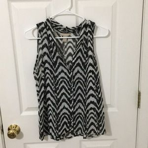 Zebra striped sleeveless blouse